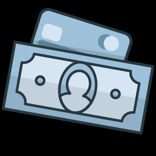 Geldschein Icon zur Dekoration