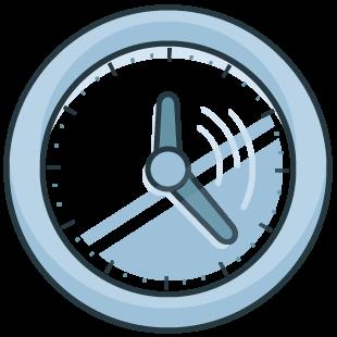 Uhr Icon zur Dekoration